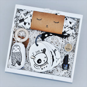 Unique Unisex Baby Gift Crate Wee Gallery - Nifty Package Co