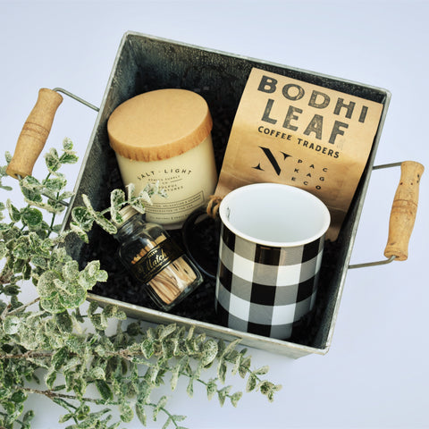 Candle and Coffee Holiday Tin - Nifty Package Co