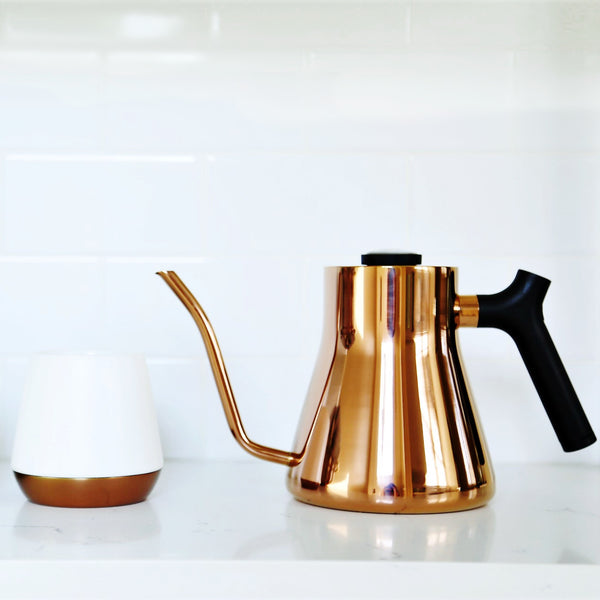 Fellow Copper or Matt Black Stagg Pour-Over Kettle Set - Nifty Package Co