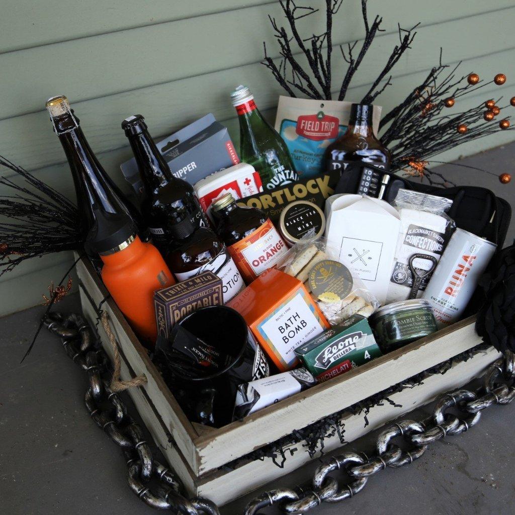 Nifty Package Co. Gourmet Gifts: Halloween, Zombie Apocalypse Basket