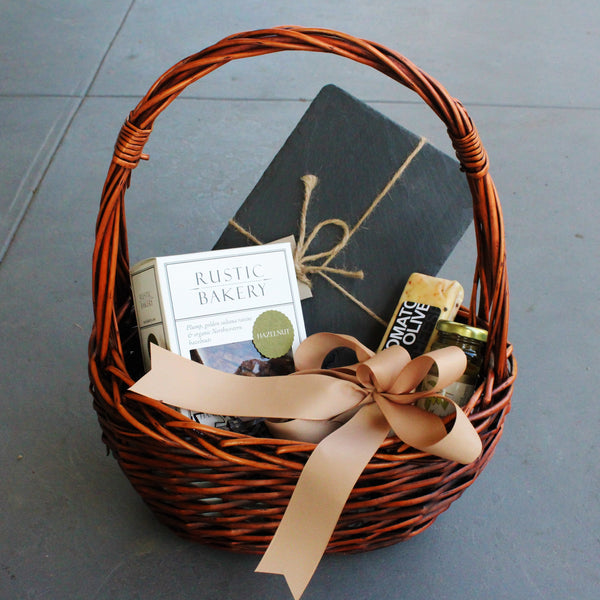 Nifty Package Co. Gourmet Gifts: Basket Cheese Slate Gift