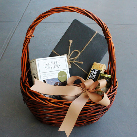 Gift 4 Option B - Basket Cheese Slate Gift - Nifty Package Co