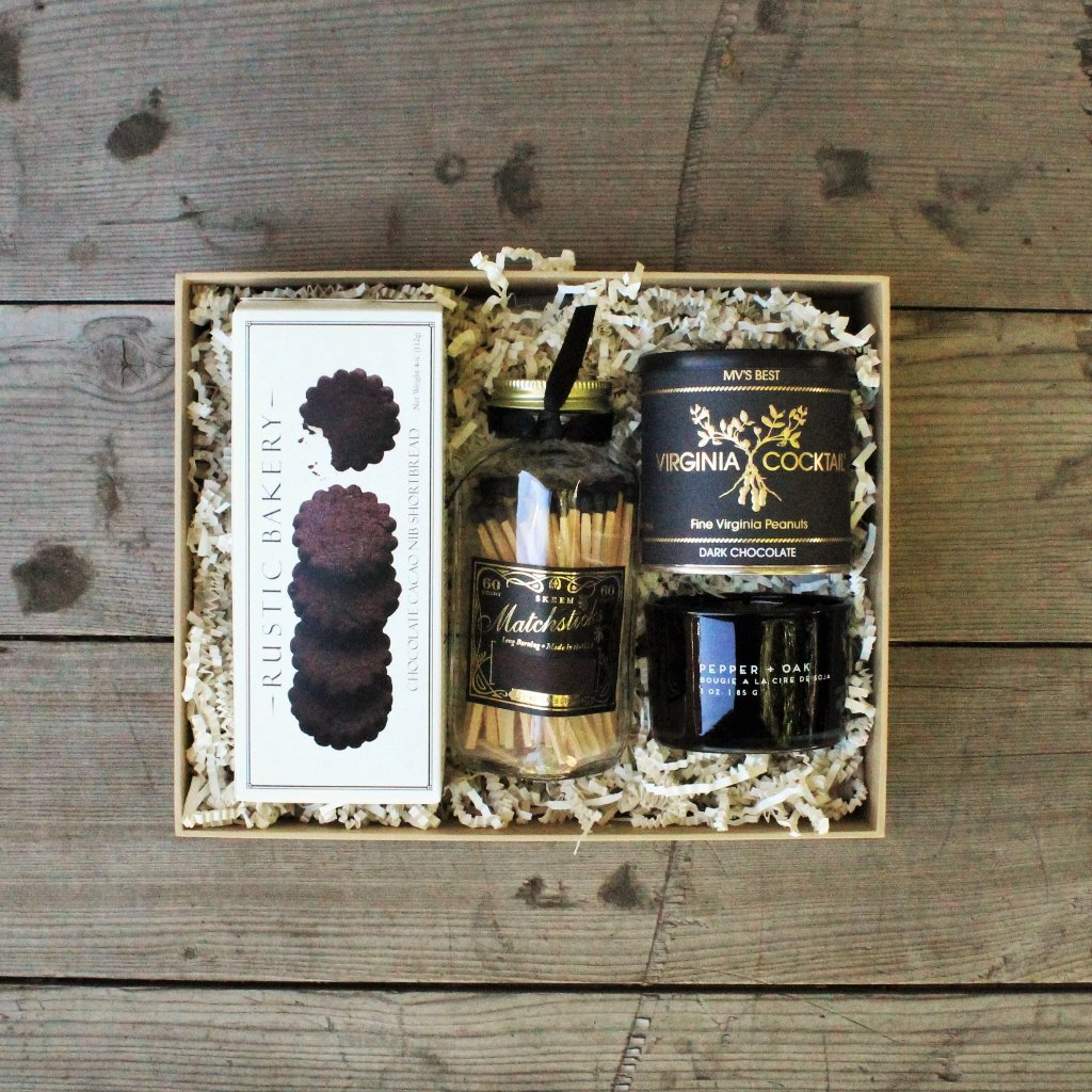Black Pepper + Oak Candle Gift - Nifty Package Co