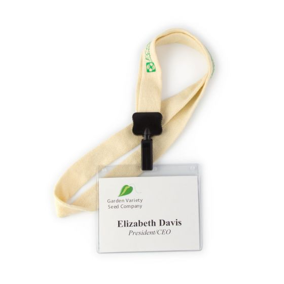 Eco Friendly Seeded Name Tags, Badges and Lanyards