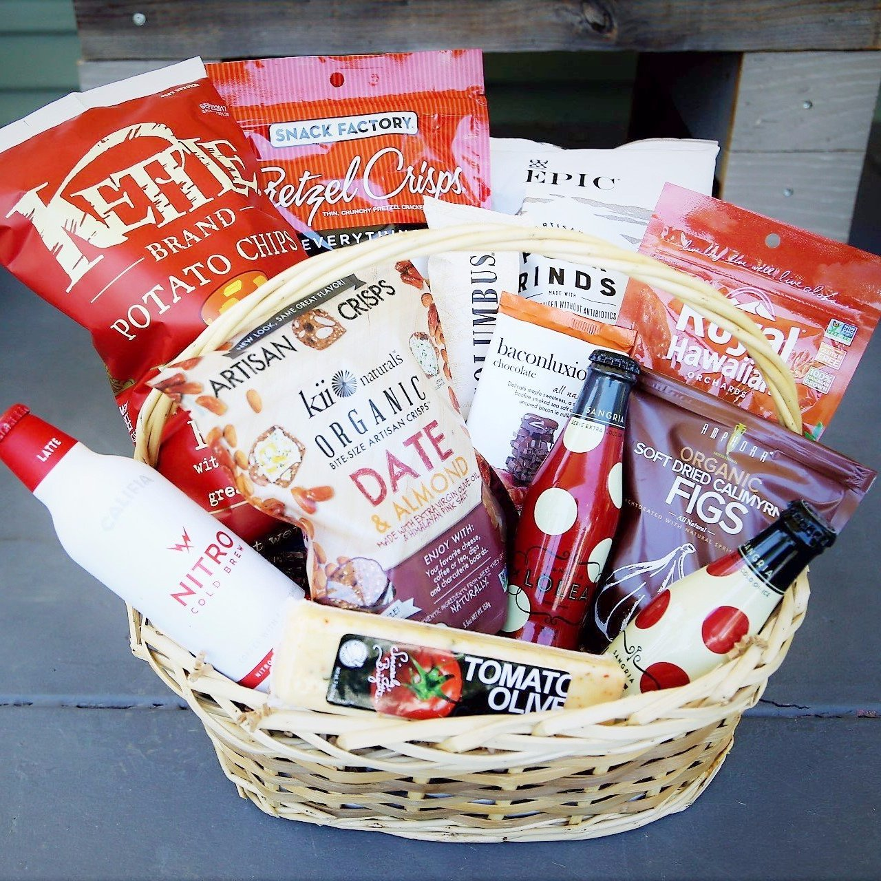 Nifty Package Co. Gourmet Gifts: Ruby Red Snack Basket