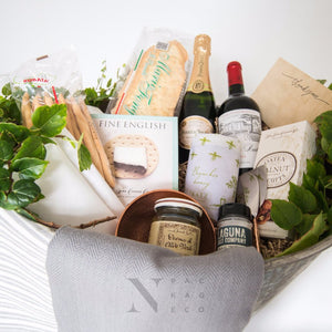 Customized Galvanized Tin Gourmet Food Gift Basket - Nifty Package Co