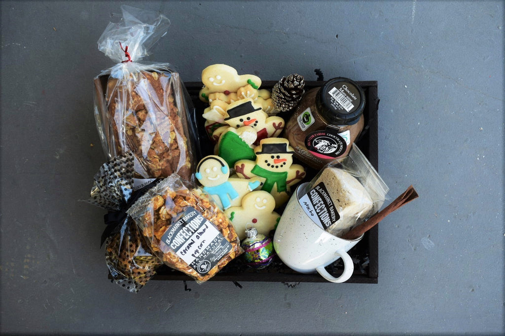 Nifty Package Co. Gourmet Gifts: Deluxe Black Market Bakery Gift Crate
