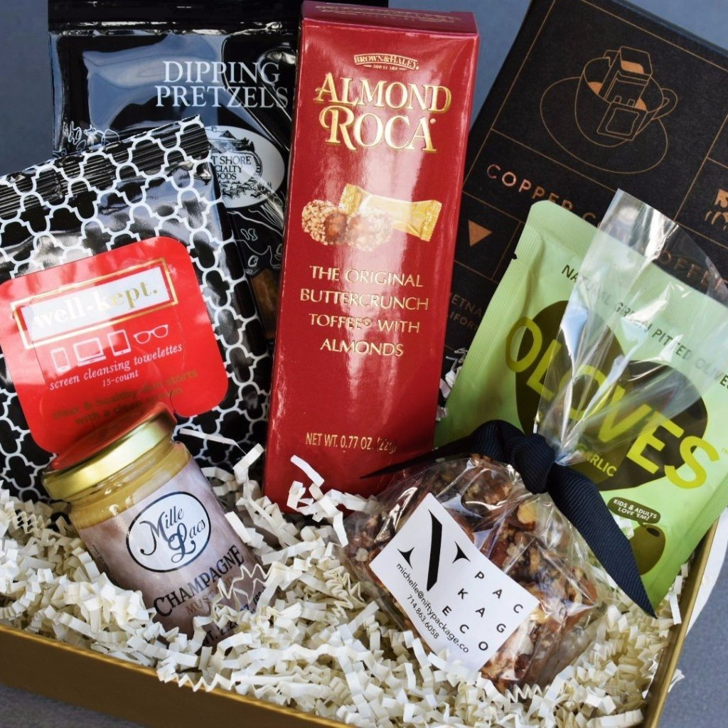 Nifty Package Co. Gourmet Gifts: Coffee and Treats Snack Box