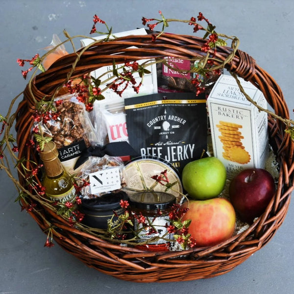Nifty Package Co. Gourmet Gifts: Large Holiday Snack Basket