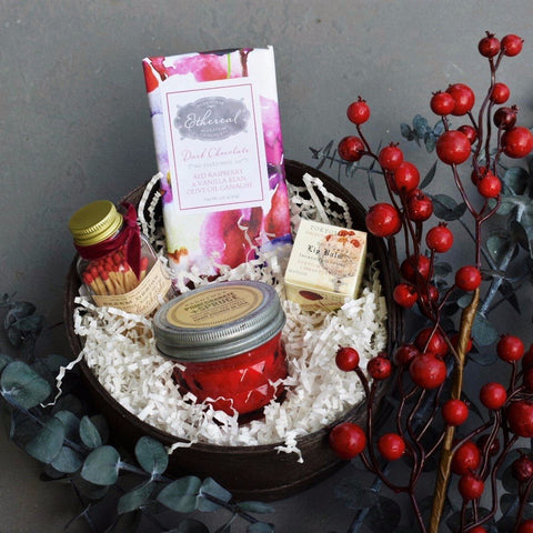 Nifty Package Co. Gourmet Gifts: Sweet Cranberry Candle Set