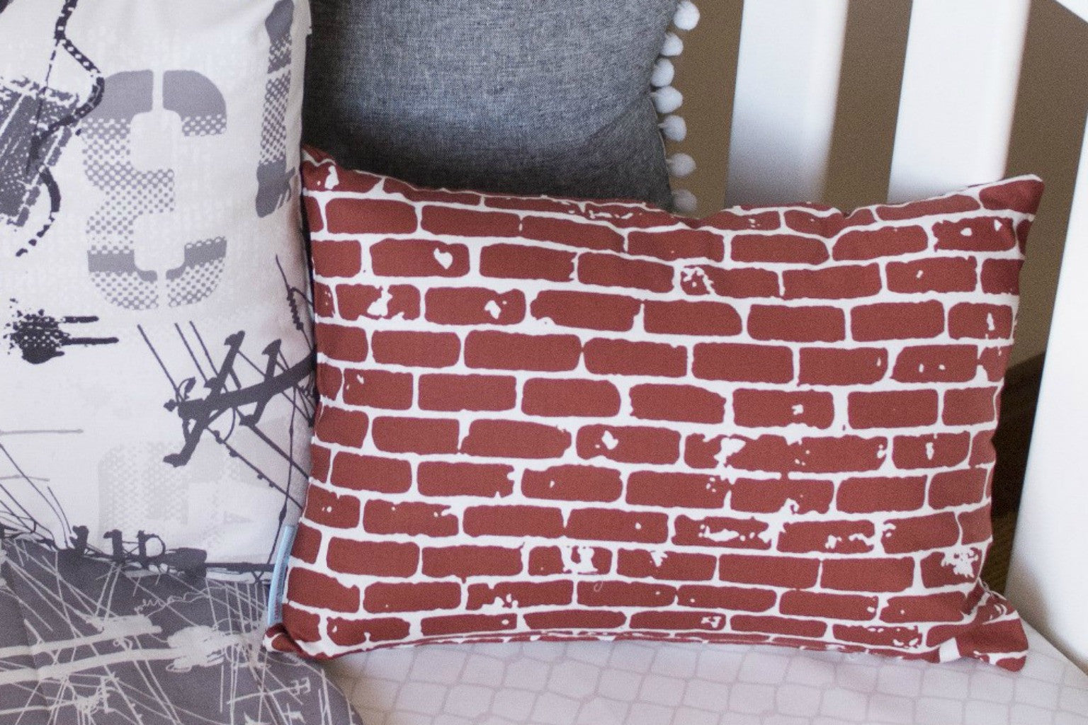 Red Brick Small Rectangle Cushion
