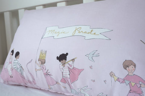 Magic Parade In Pink - Large Rectangle Cushion Cover