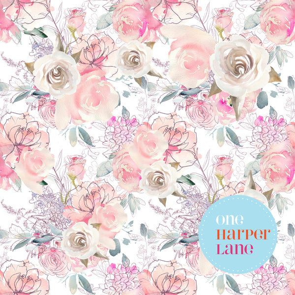 Fairydust Blush n Roses - White