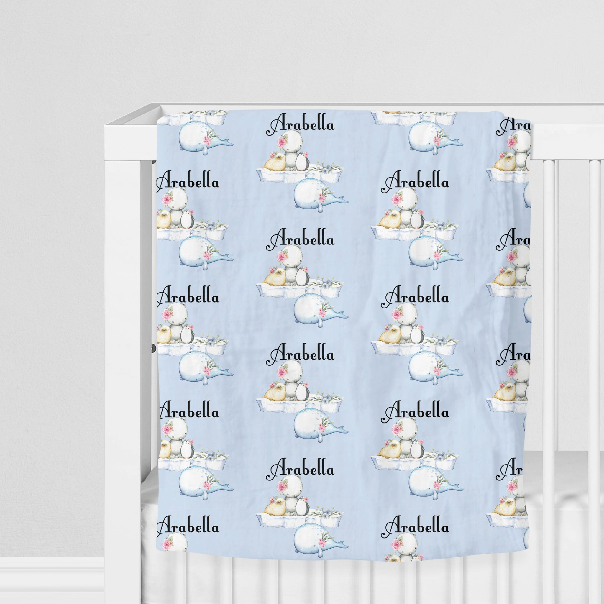 Personalised Wrap - Arctic Animal Floral
