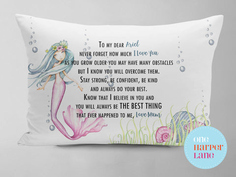 Personalised Pillowcase - Mermaid