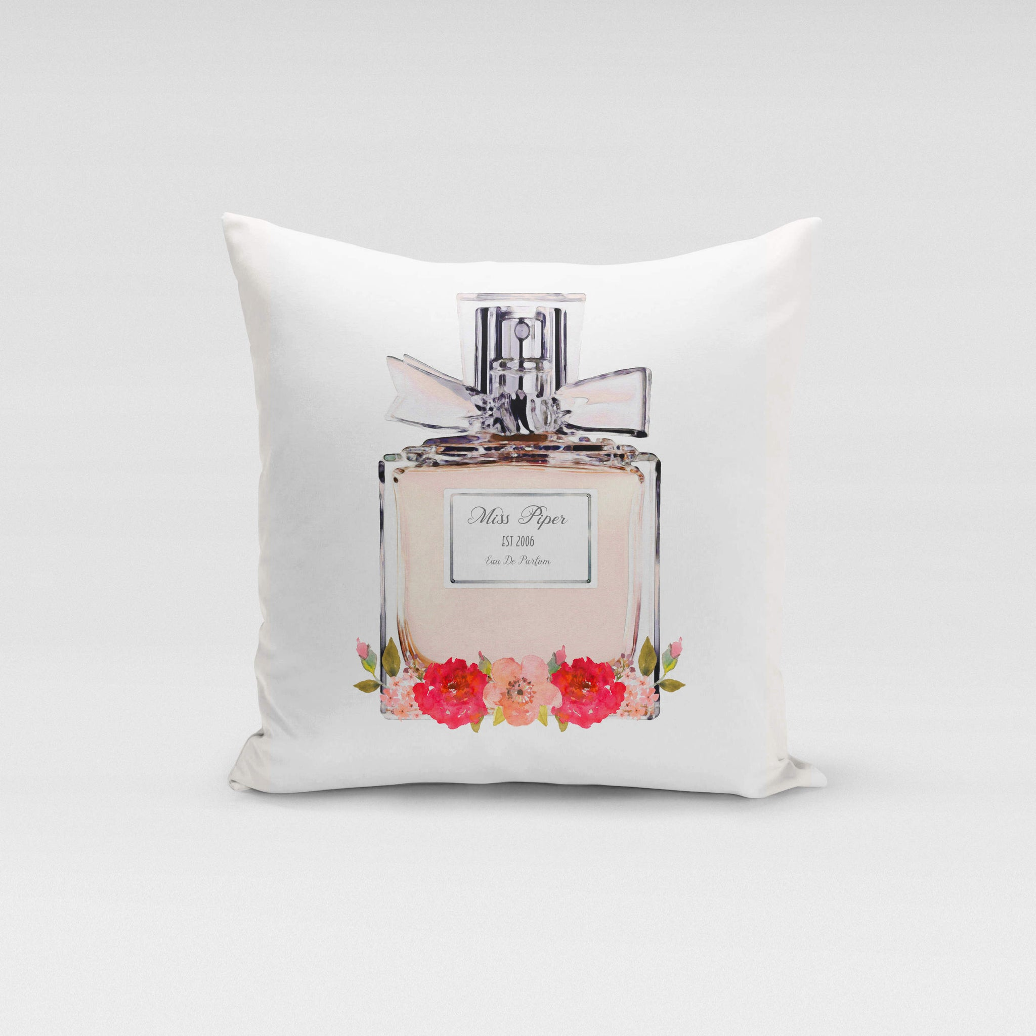 Personalised Cushion Cover Only - Peach Parfum