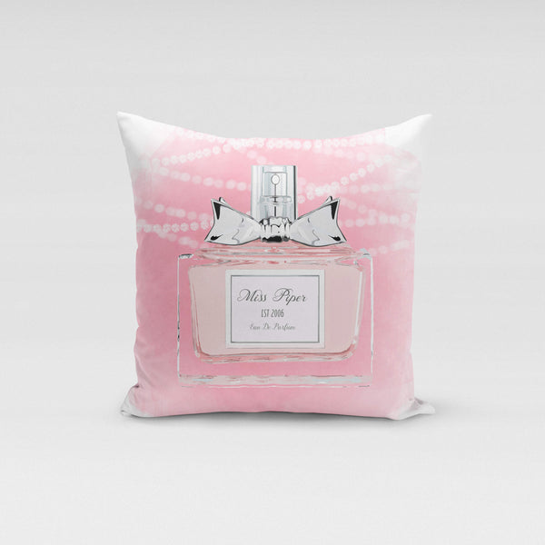 Personalised Cushion Cover Only - Pink Parfum