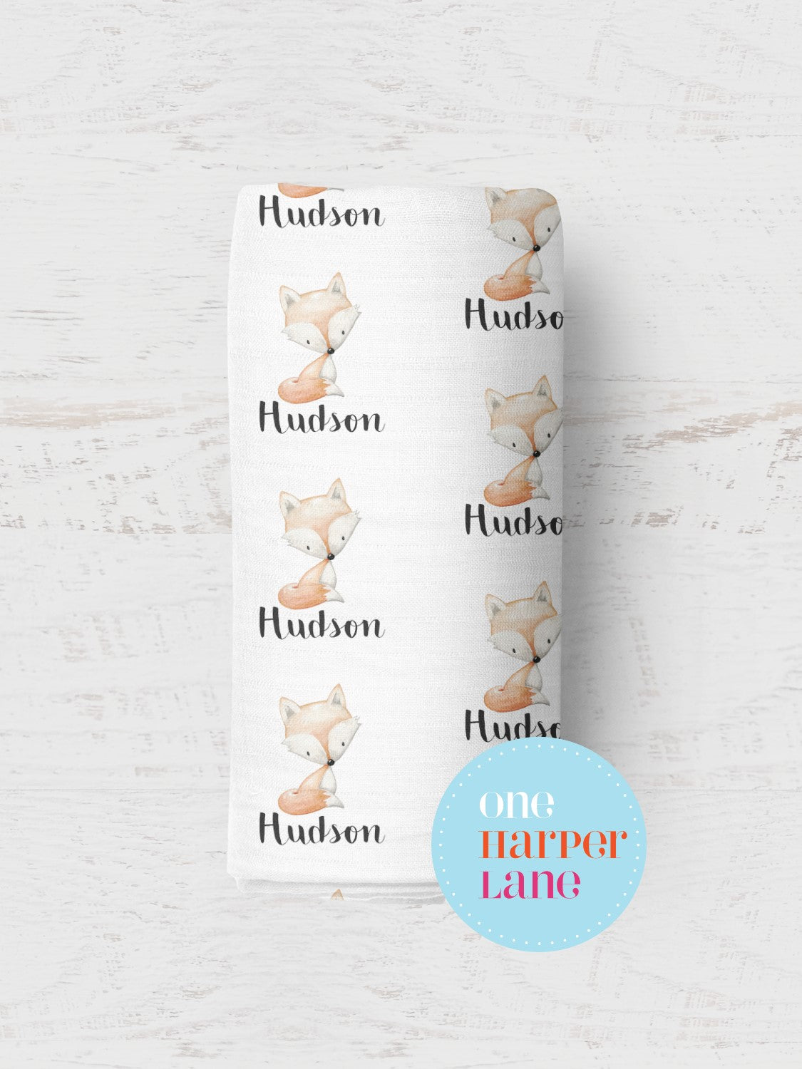 Personalised Wrap - Hudson Fox