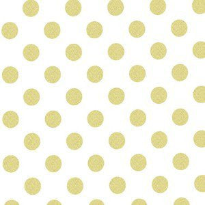Change Mat Cover - White with Gold Spot