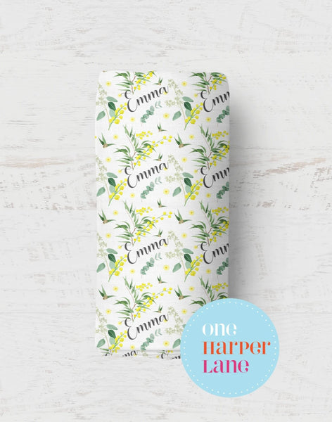 Personalised Wrap - Golden Wattle