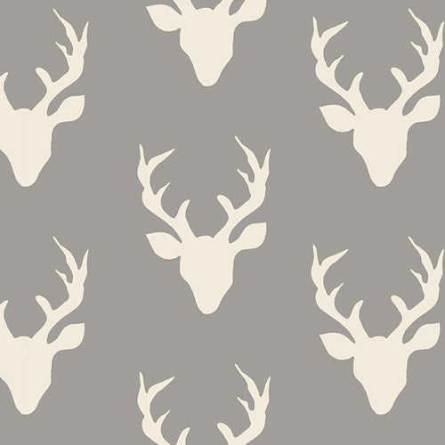 Grey Stag Fitted Cot Sheet