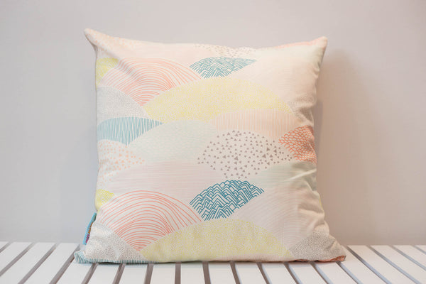 Landscape cushion scandi pastel