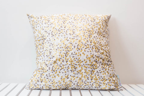 Grey Fog Shimmer Cushion Cover