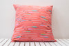 coral arrows cushion cover