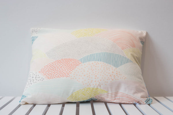 Landscape Scandi Pastel Small Rectangle Cushion