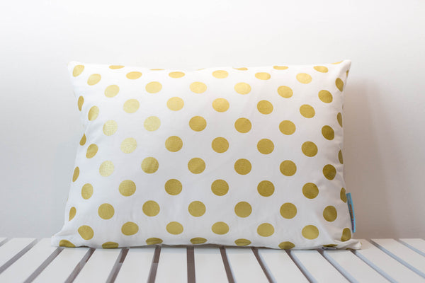 Gold Spot Small Rectangle Cushion