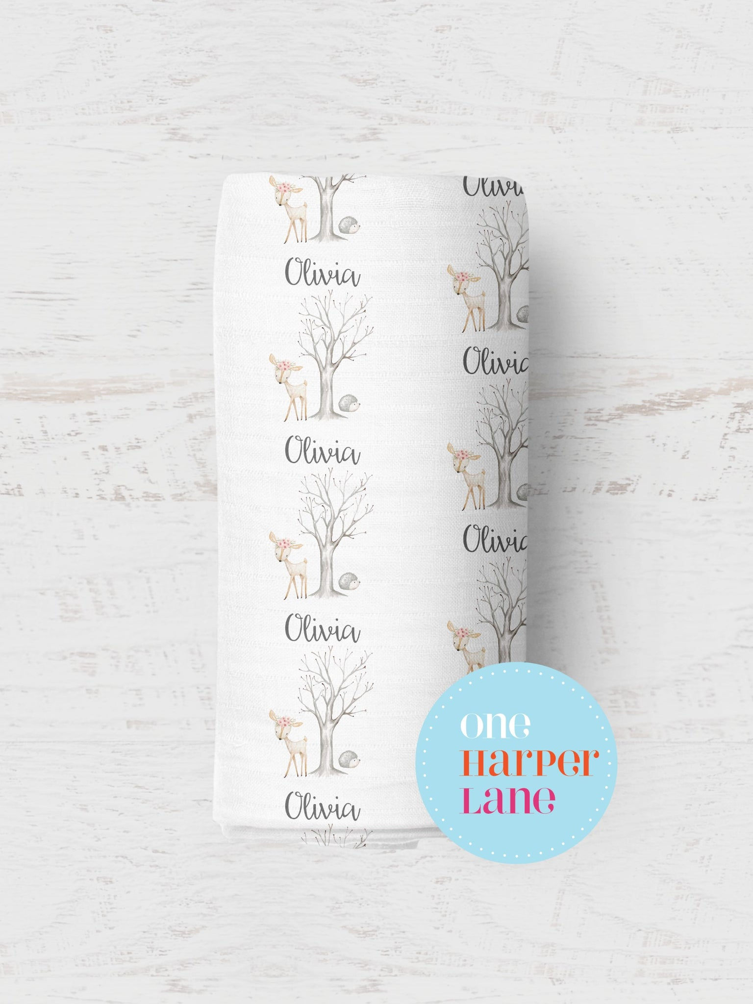 Personalised Wrap - Olivia Deer