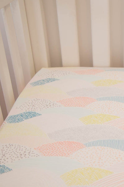 Pastel Landscape Fitted Cot Sheet