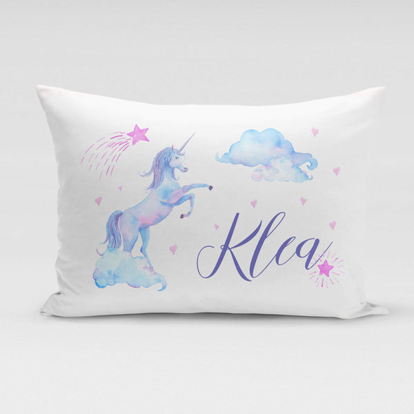Personalised Pillowcase - Purple Unicorn