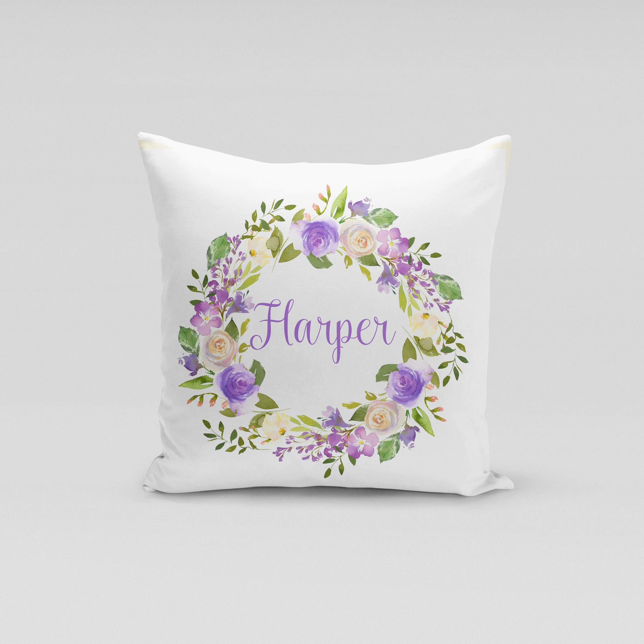 Personalised Cushion Cover Only - Lilac Floral