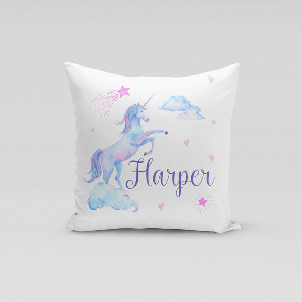Personalised Cushion Cover Only - Purple Unicorn