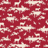 Tilda Fabric - Tilda Quilt Collection – Sweetheart – Forest – Carmine Red