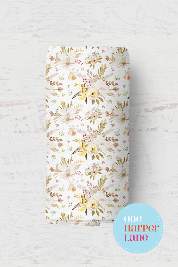 Rustic Autumn Floral - Organic Cotton Wrap