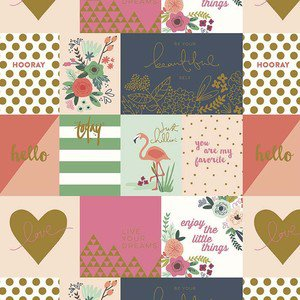 Pram Liner Set - Metallic Notecard