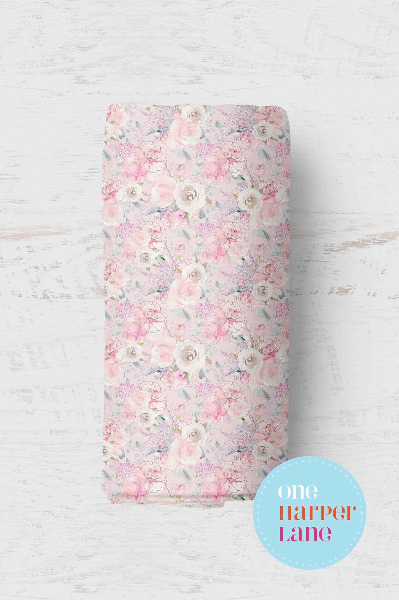 Blush and Roses Floral Wrap