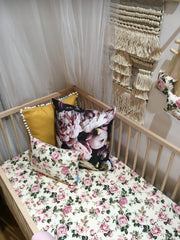 Vintage Rose Fitted Cot Sheet
