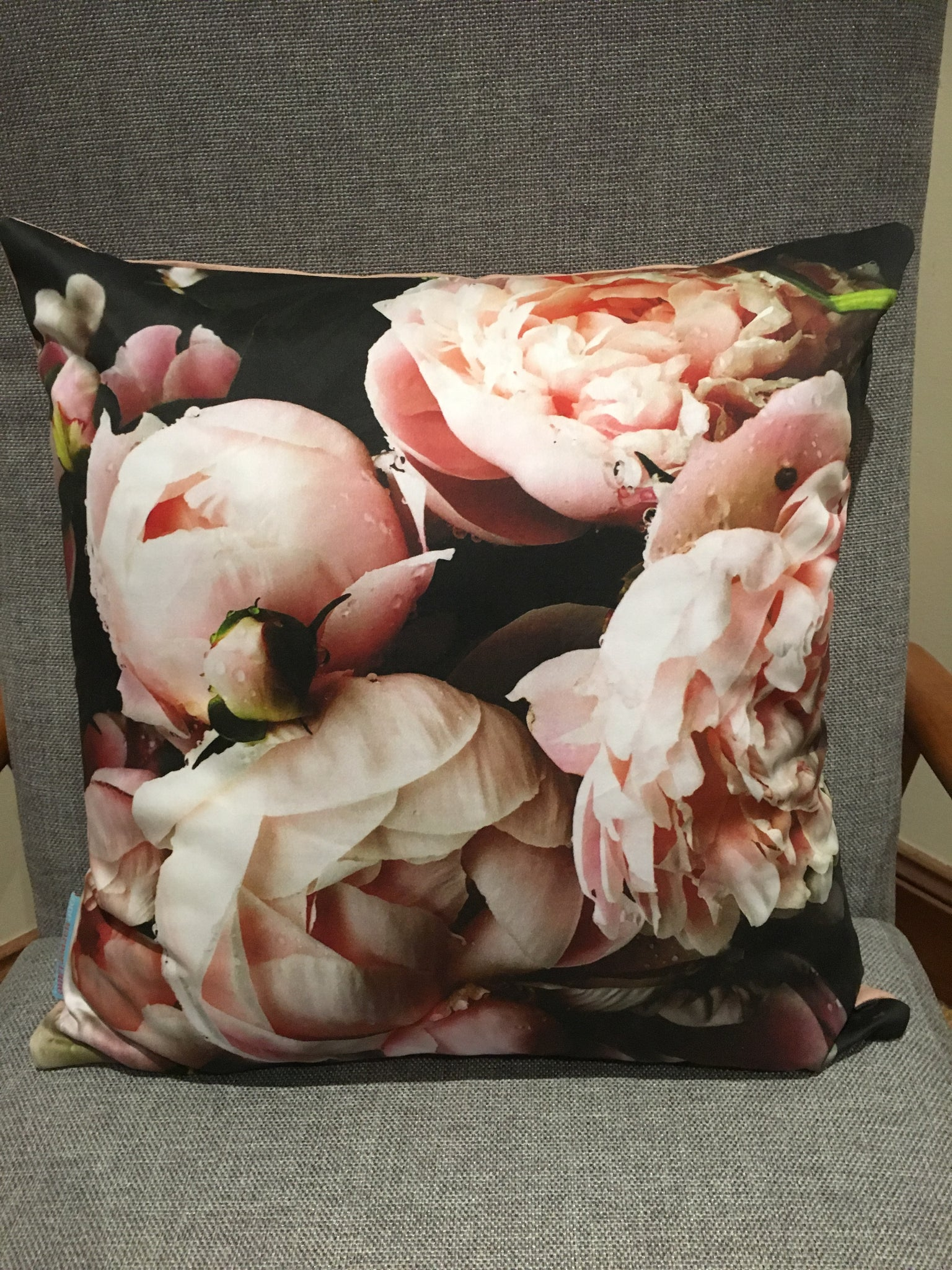 Digital Peony Pink - Cushion Cover