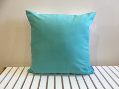 Aqua Headress Cushion Cover - Aqua Back