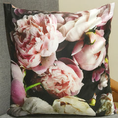 Digital Peony Fuschia - Cushion Cover