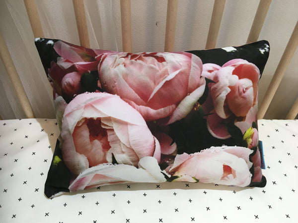 Digital Peony Pink - Small Rectangle Cushion