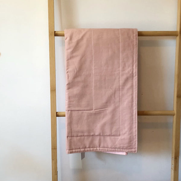 Dusty Pink Linen Bassinet / Pram Blanket