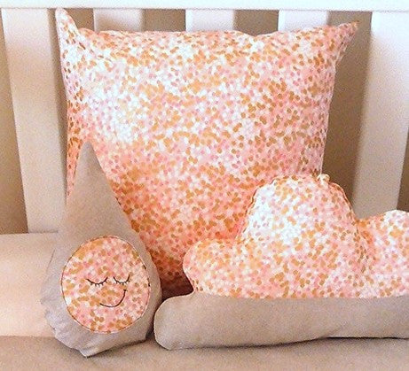 Peach Shimmer Cushion Cover