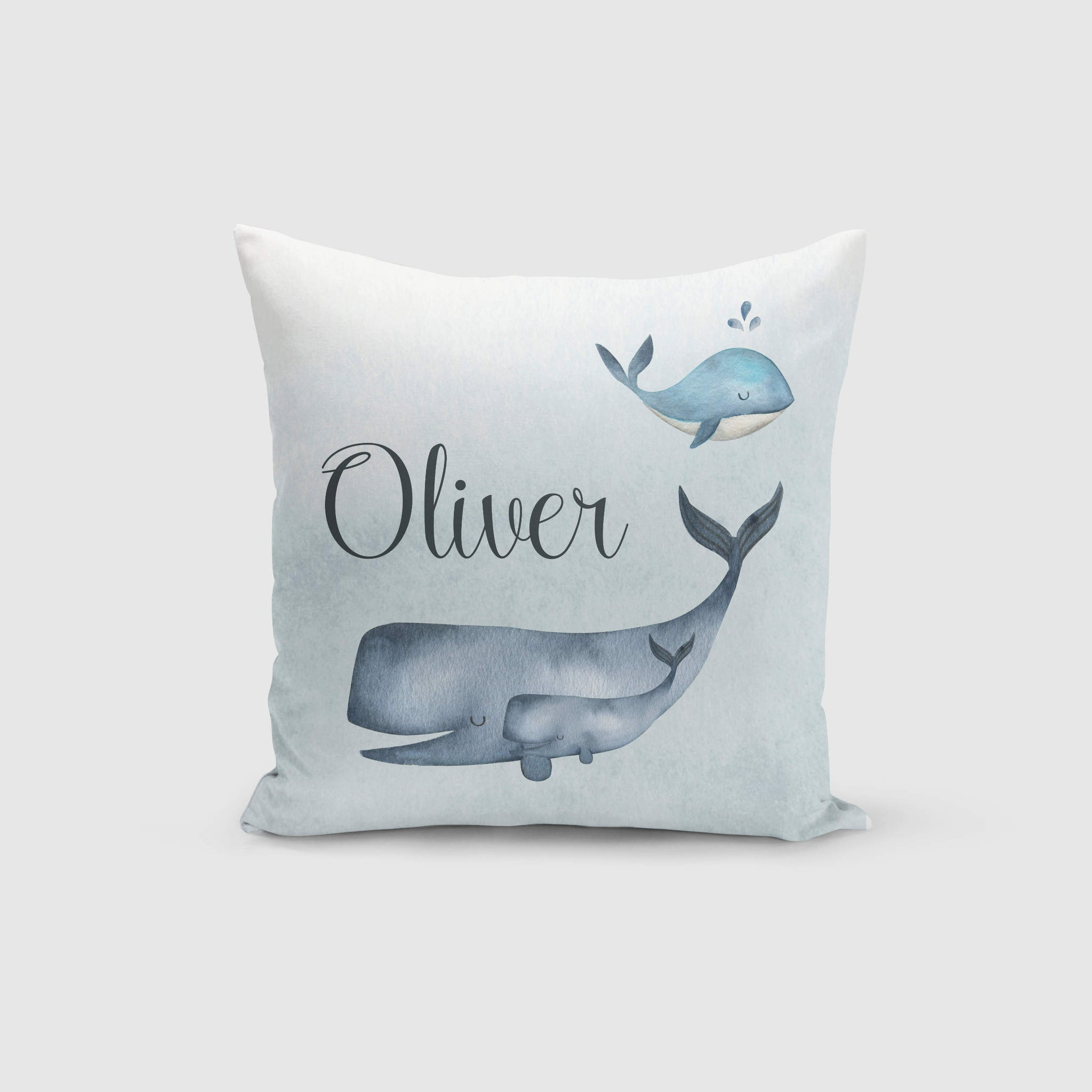 Personalised Cushion Cover Only - Whales