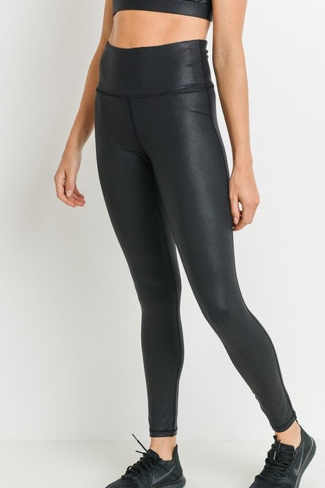 Faux Leather Leggings - Sweetly Striped