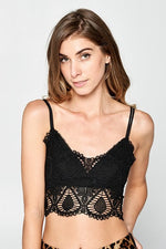 Crochet Bralette - Black