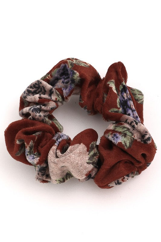 Floral Print Scrunchie - Sweetly Striped